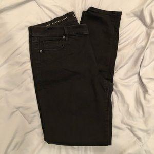 LOFT black denim skinny jeans!